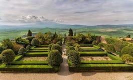 Pienza. Garden at Palazzo Piccolomini Royalty Free Stock Photo
