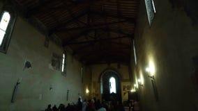 Pienza, inside the church of San Francesco stock video