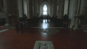 Pienza, Interior of the Cathedral stock video footage