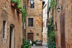 Pienza Italien arkivbilder