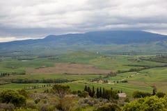 Pienza italy Tuscan landskap Fotografering för Bildbyråer