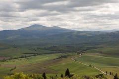 Pienza italy Tuscan landskap Arkivfoton