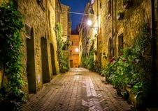Pienza na noite, Toscânia Imagem de Stock Royalty Free