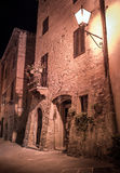 Pienza by night, Tuscany Stock Photo
