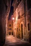 Pienza by night, Tuscany Stock Image