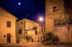 Pienza by night, Tuscany Royalty Free Stock Photo