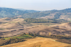 Pienza Toscana Italy, road to the pictures of which were made into the famous movie GLADIATOR Stock Image