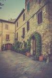 Pienza in Toscanië Stock Afbeelding