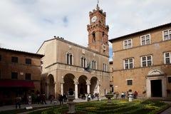 Pienza toskana Italien Alte Stadt lizenzfreie stockfotografie