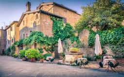 pienza tuscany royaltyfri fotografi