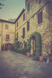 Pienza in Tuscany Stock Image