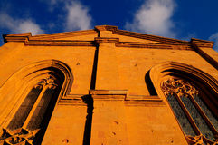 Pienza Tuscany Church Stock Photo