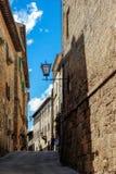 PIENZA TUSCANY/ITALY - MAJ 19: Byggnader i Pienza på Maj 19, Royaltyfria Foton