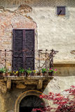 PIENZA, TUSCANY/ITALY - MAY 19 : Balcony of a building in Pienza Stock Image