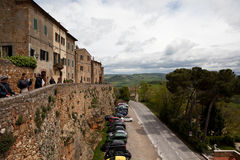 Pienza. Tuscany. Italy. Old Town. Stock Images