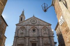PIENZA, TUSCANY-ITALY, PAŹDZIERNIK 30, 2017: Stary miasteczko Pienza, Tuscany, Włochy fotografia stock