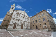 Pienza Tuscany medieval dome Stock Images