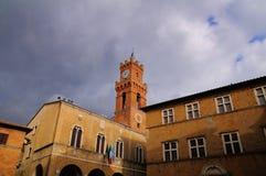 Pienza Tuscany Square stock photos