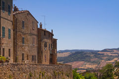 Pienza, Tuscany. Street and buildings of the medieval village Pienza, Tuscany, Italy Royalty Free Stock Photography