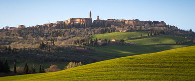 Pienza in Val d'Orcia, Tuscany Royalty Free Stock Images
