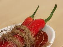 pieprz czerwone chili ziemi całą Zdjęcia Stock