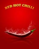 pieprz czerwone gorące chili Fotografia Stock