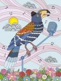 Pieprzojad kolorystyki dorosła strona royalty ilustracja
