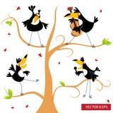 Pieprzojad na drzewie Obrazy Stock