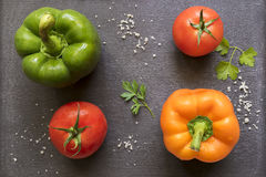 pieprzony pomidorów obraz royalty free