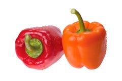 pieprzowa pomarańcze czerwień Zdjęcie Stock