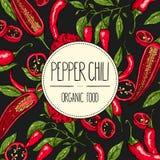 Pieprzowy chili sztandar Fotografia Stock