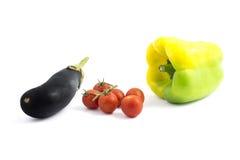 Pieprzowy pomidor i oberżyna Obraz Royalty Free