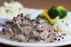 Pieprzowy stek Zdjęcia Stock