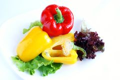 pieprzy czerwonego słodkiego kolor żółty Fotografia Stock