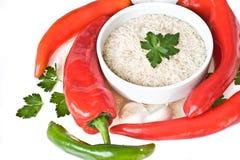 pieprzy czerwonych ryż Obrazy Royalty Free