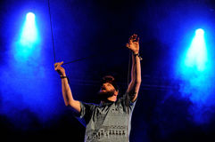 Pieprzy Up, akceptowany punkowy zespół, wykonuje przy Heineken Primavera dźwięka 2013 festiwalem Obrazy Royalty Free