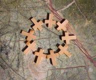 Pierścionek krzyże obraz stock