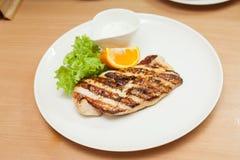 pierś kurczaka z grilla Obraz Stock