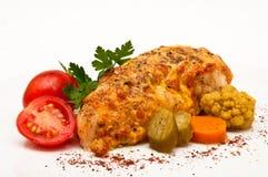 pierś piec kurczak Obraz Stock