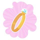pierścień na ślub Fotografia Royalty Free