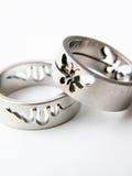 pierścień srebra obrazy stock