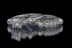 pierścienie 2 poślubić zdjęcia royalty free
