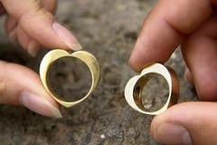 pierścienie 3 poślubić fotografia stock