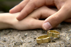 pierścienie 5 poślubić Obraz Royalty Free