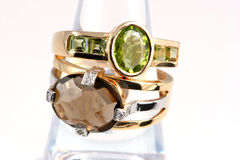 pierścienie luksusów Zdjęcia Royalty Free