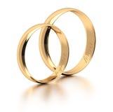 pierścienie za biały Obrazy Royalty Free