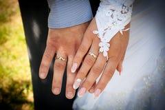 pierścienie za rękę Fotografia Stock
