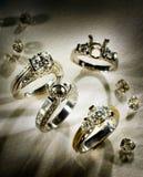 pierścienie zaręczynowi Zdjęcia Royalty Free