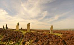 Pierścionek Brodgar, okrąg, Stenness, Orkney wyspy Zdjęcie Royalty Free