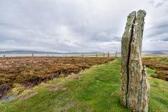 Pierścionek Brodgar, serce Neolityczny Orkney fotografia stock
